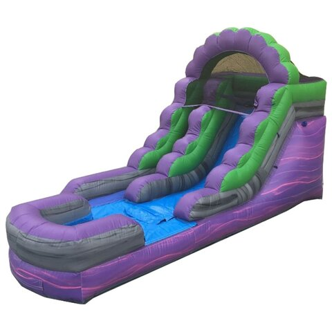 13ft Purple Marble Water Slide