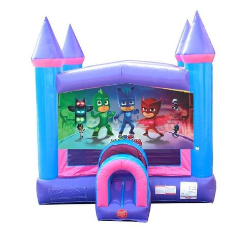 PJ Masks Pink Castle Bounce House
