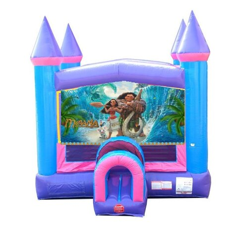 Moana Pink Bounce House