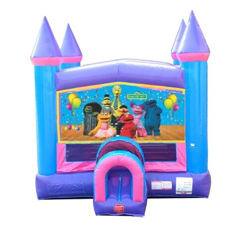 Sesame Pink Bounce House