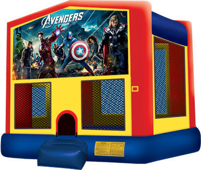 Avengers Primary Color Bounce House