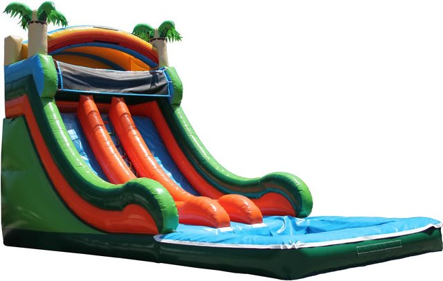 20ft Caribbean Splash Water Slide