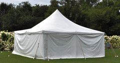 7x20 Solid White Tent Wall
