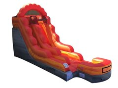 13ft Fire Marble Water Slide