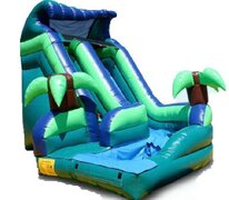 16ft Tropical Curve Water Slide