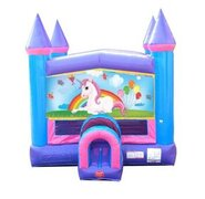Unicorn Banner Pink Castle Bounce House