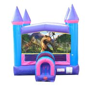 Dino Pink Castle Bounce House