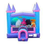 Trolls Pink Castle Bounce House