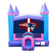 Football Pink Castle Bounce House