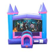 Avengers Pink Bounce House
