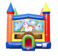 Unicorn Banner Bounce House