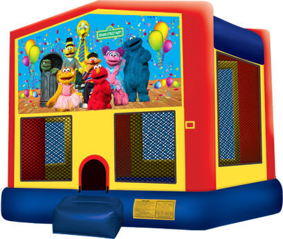 Sesame Primary Color Bounce House