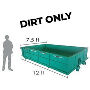 <b><font color=red><b>7 Cubic Yard Dumpster</font><br><small>$285 1 - 4 Day Rental<br> <font color=green>Space Needed 7.5W x 12L x 2H</font></b></small>
