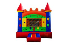 <font color=red><b>Fiesta Theme Bounce House<br></font><small>Best For Ages 2 - 15 <font color=maroon> | 1 Outlet Needed</font><br><font color=blue>Actual Size 13 L  x 13 W x 15 H</font></small>