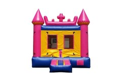 <font color=red><b>Regular Pink Castle<br></font><small>Best For Ages 2 - 15<font color=maroon> | 1 Outlet Needed</font><br><font color=blue>Actual Size 13 L  x 13 W x 15 H</font></small>