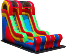 <font color=red><b>[18 ft] Single Lane Dry Slide<br></font><small>Best For Ages 2+<font color=maroon> | 1 Outlet Needed</font><br><font color=blue>Actual Size 22 L  x 12 W x 18 H</font></small>