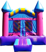 <font color=red><b>Pink Regular Bounce House <br></font><small>Best For Ages 2 - 15<font color=maroon> | 1 Outlet Needed </font><br><font color=blue>Actual Size 13 W x 13 L x 15 H</font></small>