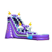 NEW!! 19 Ft. Thunder Water Slide Best For Ages 2 - 15 | 1 Outlet Needed Actual Size 14 W x 45 L x 20 H
