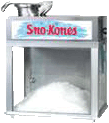 SNOW CONE MACHINE with supplies for 25 servings
