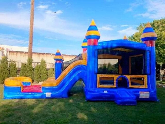 BLUE CASTLE COMBO WITH DRY SLIDE