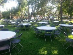 60 inch Round Tables Seats 8 -10 Guests