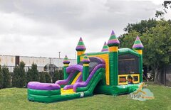 GREEN CASTLE COMBO WITH DRY SLIDE