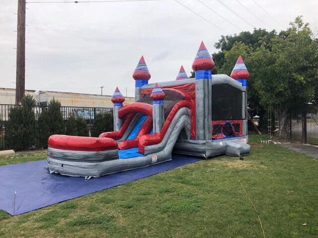 SILVER CASTLE COMBO WITH DRY SLIDE