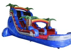 Baja Blast Single lane water slide with pool