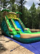 16' Juliett Falls  water slide with inflatable pad