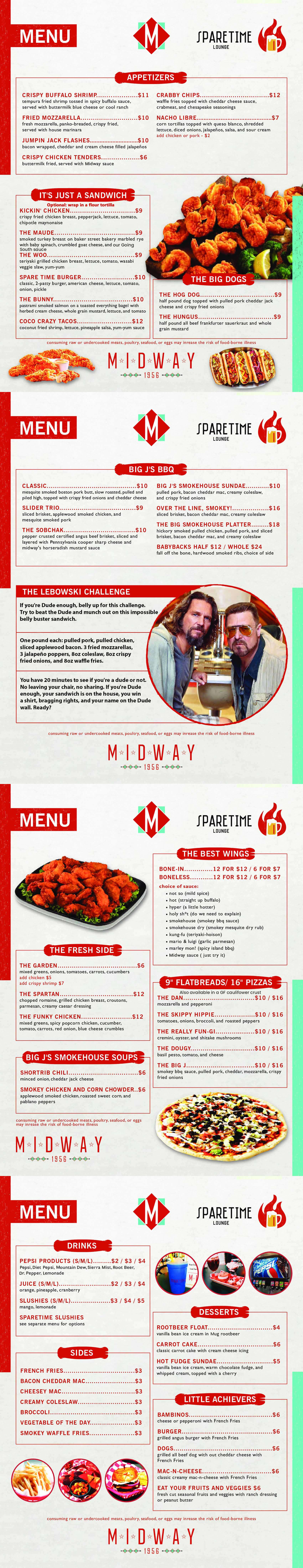 MidwayBowl Menu