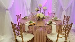 120 Pintuck Round Table Linens