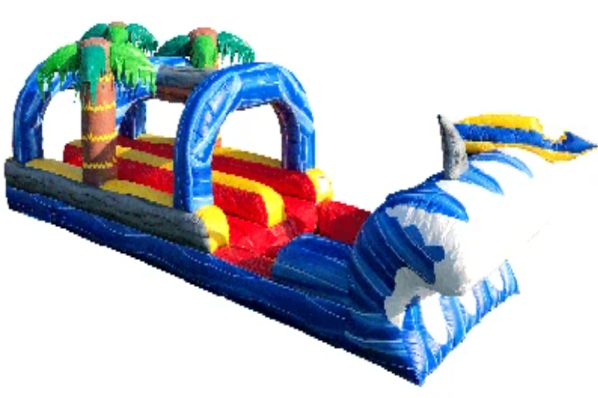 32 FT Shark Attack Dual Lane Slip & Slide w/Pool *COMING JUNE 2021*