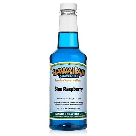 Additional 16 OZ Snow Cone Syrup - Blue Raspberry