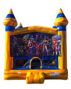Volcano Bounce House - Superheroes