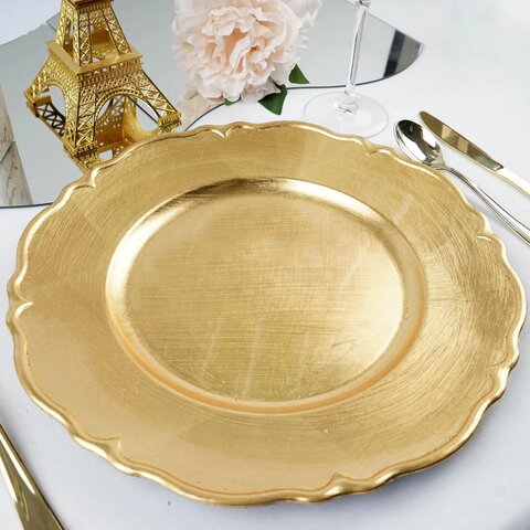 Charger Plates - Scalloped edge