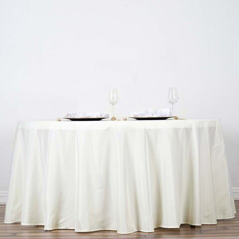 Tablecloth Round Polyester 120