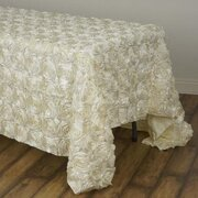 "Rosette Tablecloth 90""x132"" (6' table)"