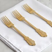 Disposable Cutlery Fork - 24 units Gold