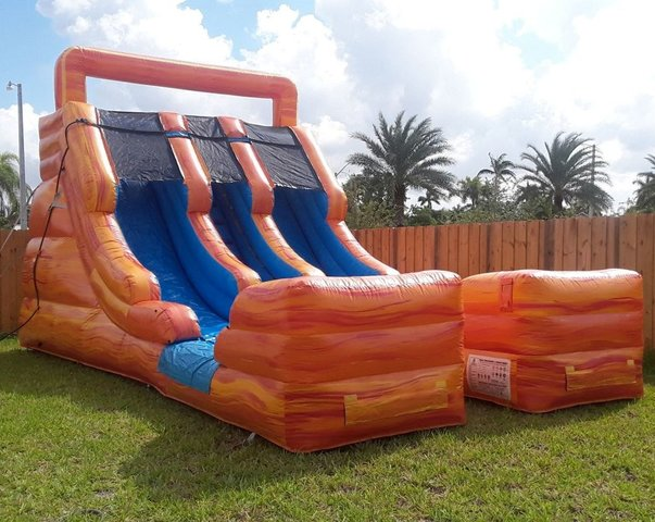 15ft Two-Lanes Lava Waterslide