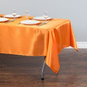 60x102 Rectangular Satin Tablecloth Orange