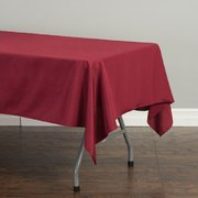 60 x 102 in. Rectangular Polyester Tablecloth Burgundy