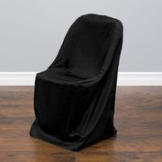Polyester Folding Chair Cover Black