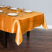 60 x 102 in. Rectangular Satin Tablecloth Orange