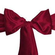 Sash - Satin - Burgundy