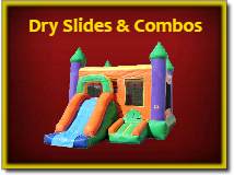 Dry Slides and Combos - Combo Bounce Houses with Slides and Basketball Goals