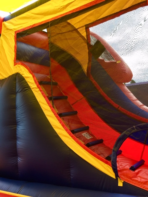 The Excalibur Combo Bounce Castle Inside and Ladder
