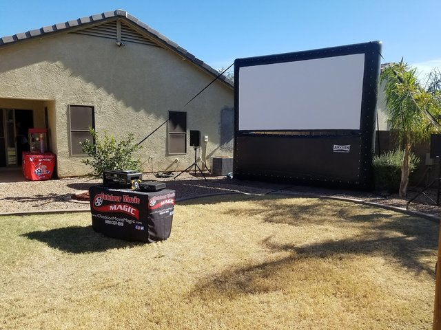 12' Outdoor Movie Screen