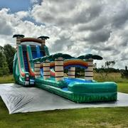 22 Ft Tropical Water Slide with Slip N Slide