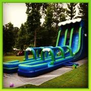 27 Ft Blue Wave Slide with Slip N Slide