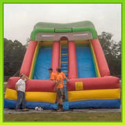 24 Ft Double Lane Dry Slide